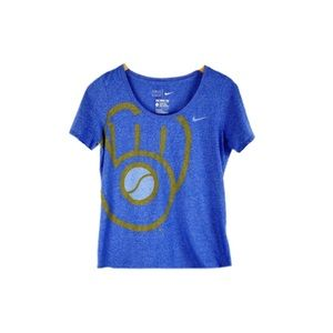 Milwaukee Brewers Nike Tee MLB Short Sleeve Blue